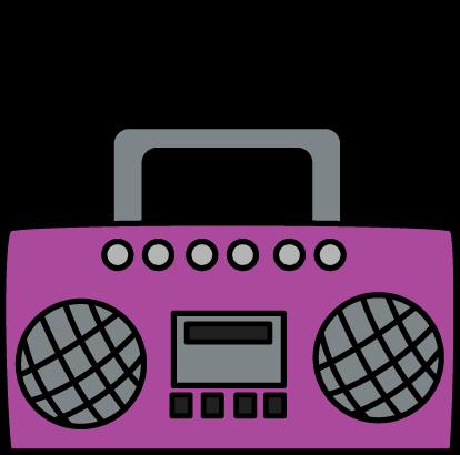 Purple Boombox Clip Art - Purple Boombox Image