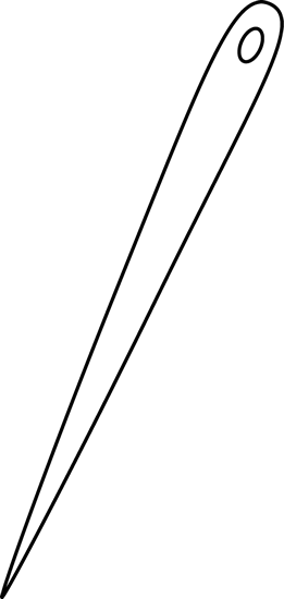 Black and White Sewing Needle