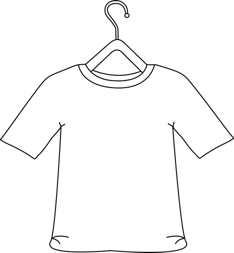 Black and White Shirt on a Hanger