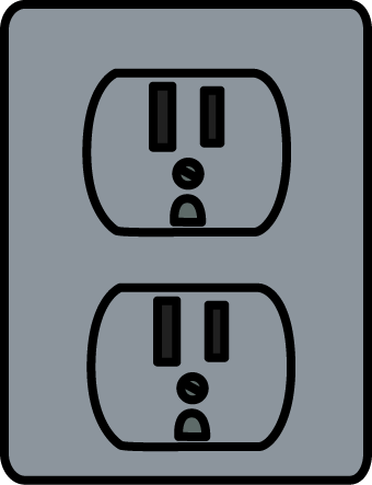 Silver Electrical Outlet Clip Art