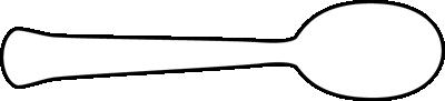 Black and White Horizontal Spoon
