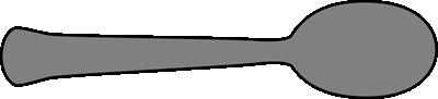 Horizontal Spoon Clip Art - Horizontal Spoon Image
