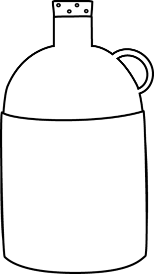 Black and White Tall Jug