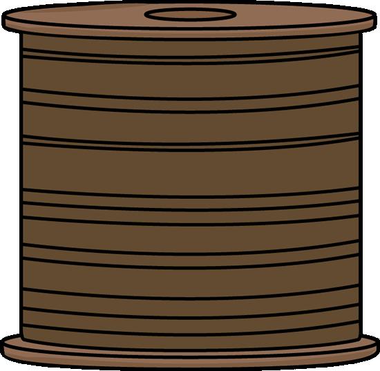 Spool of Brown Thread