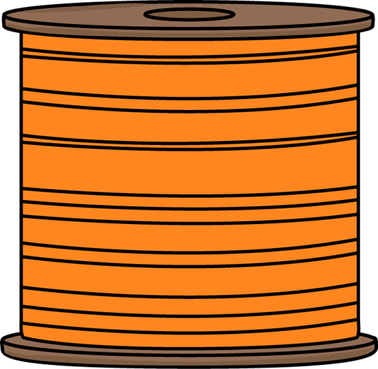 Orange Spool of Thread