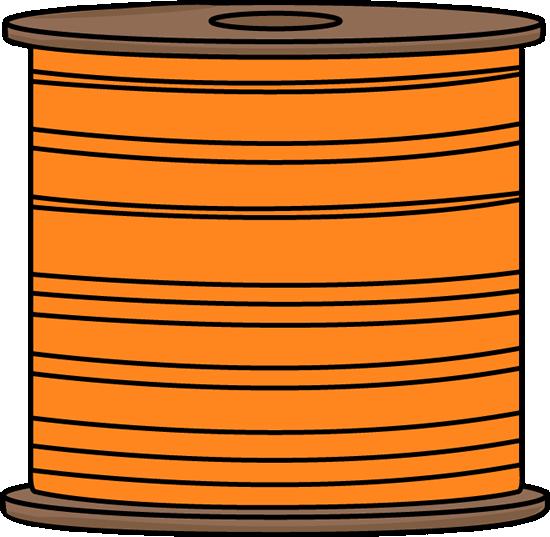 Orange Spool of Thread