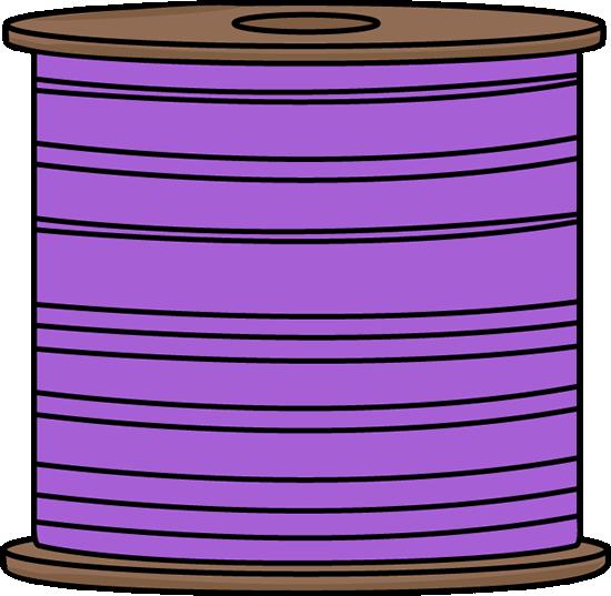 Spool of Purple Thread
