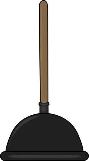 Black Toilet Plunger