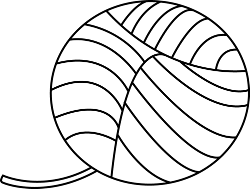 Black and White Ball of Yarn