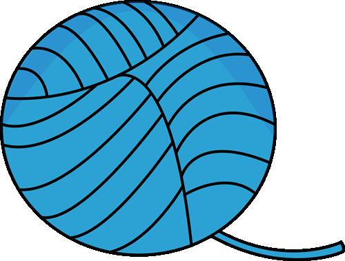 Blue Ball of Yarn Clip Art - Blue Ball of Yarn Image