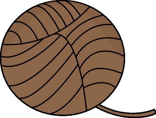 Brown Ball of Yarn