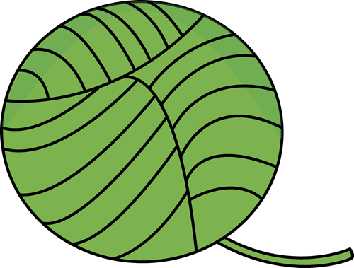 Green Ball of Yarn Clip Art - Green Ball of Yarn Image