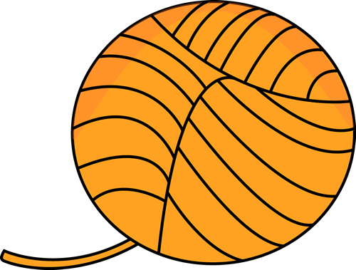 Orange Ball of Yarn Clip Art - Orange Ball of Yarn Image