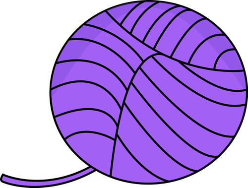 Purple Ball of Yarn