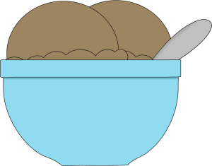 Bowl of Chocolate Ice Cream