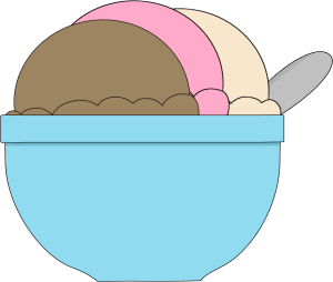 Bowl of Neapolitan Ice Cream