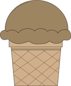 Chocolate Ice Cream Cone