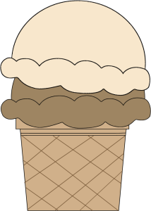 Chocolate and Vanilla Ice Cream Cone