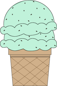 Double Scoop Mint Chocolate Chip Ice Cream Cone
