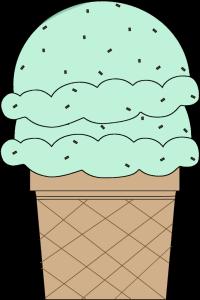Double Scoop Mint Chocolate Chip Ice Cream Cone