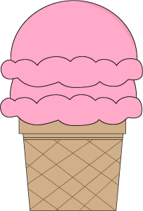 Strawberry Double Scoop Ice Cream Cone