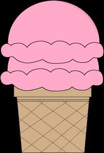 Strawberry Double Scoop Ice Cream Cone