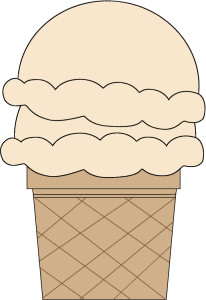 Vanilla Double Scoop Ice Cream Cone