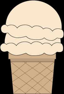 Vanilla Double Scoop Ice Cream Cone