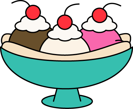 banana split ice cream clip art banana split ice cream image rh mycutegraphics com clipart of ice cream sundae clip art of ice cream cones