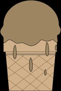 Melting Chocolate Ice Cream Cone
