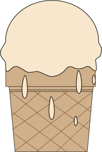 Melting Ice Cream Cone