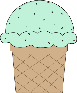 Mint Chocolate Chip Ice Cream Cone