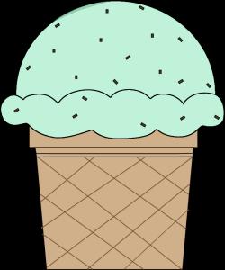 Mint Chocolate Chip Ice Cream Cone