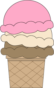 Neapolitan Ice Cream Cone