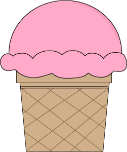 Strawberry Ice Cream Cone