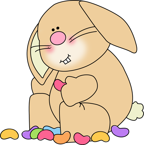Bunny Eating Jelly Beans