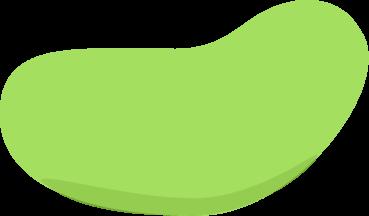 Clip Art Jelly Bean Clip Art green jelly bean clip art image of a simple bean