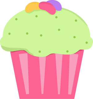 Jelly Bean Cupcake