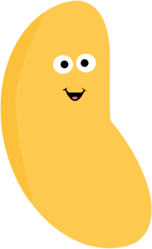 Smiling Yellow Jelly Bean