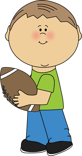 Image result for child throwing a american football clip art