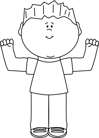 black and white boy flexing clip art black and white boy