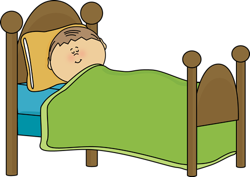 Clip Art Sleeping Clip Art child sleeping clip art image in a bed