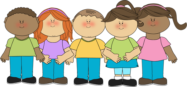 Clip Art Toddler Clip Art happy children clip art image group of lined up in a row