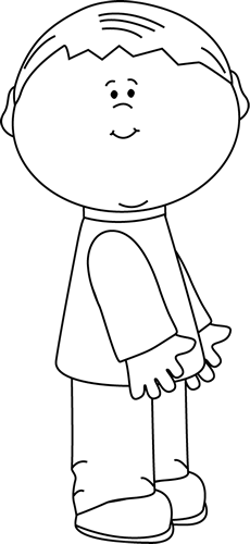 black and white cute little boy clip art black and white