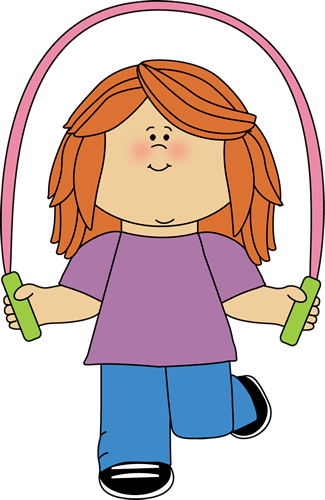 Girl Jumping Rope Clip Art - Girl Jumping Rope Image