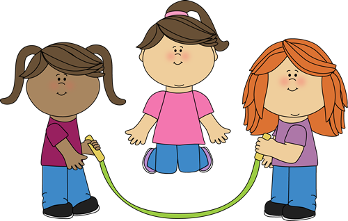 girls jumping rope