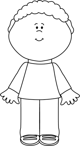 Black and White Little Boy Clip Art - Black and White ...
