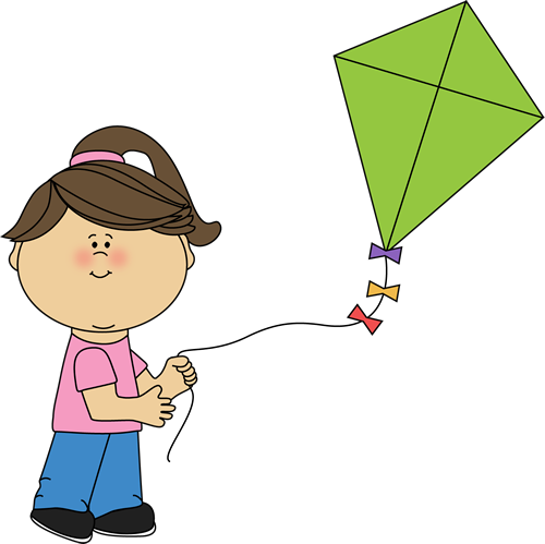 clipart kite flying - photo #4
