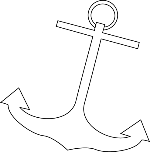 Black and White Boat Anchor