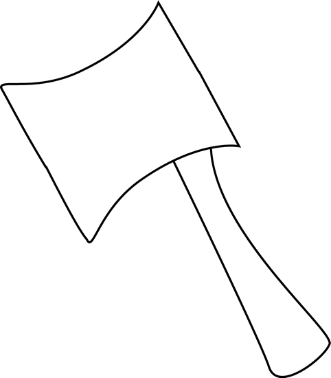 Black and White Axe Clip Art - Black and White Axe Image
